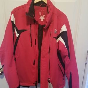 Men's Spyder Jacket Size Small Red/black